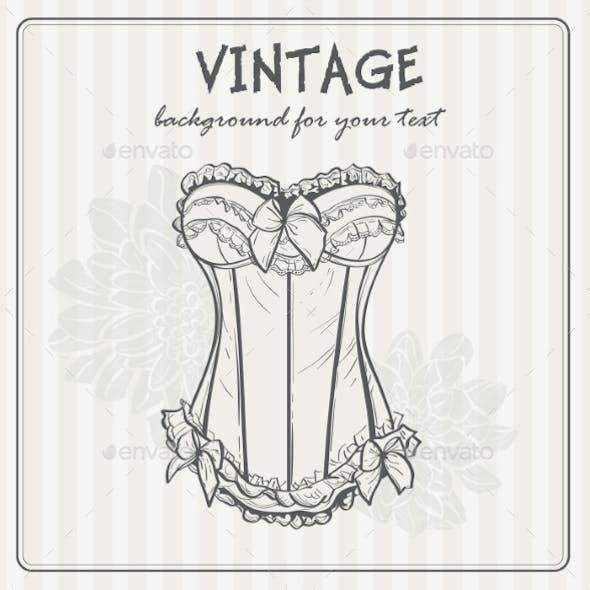 Vintage Background with Underwear
