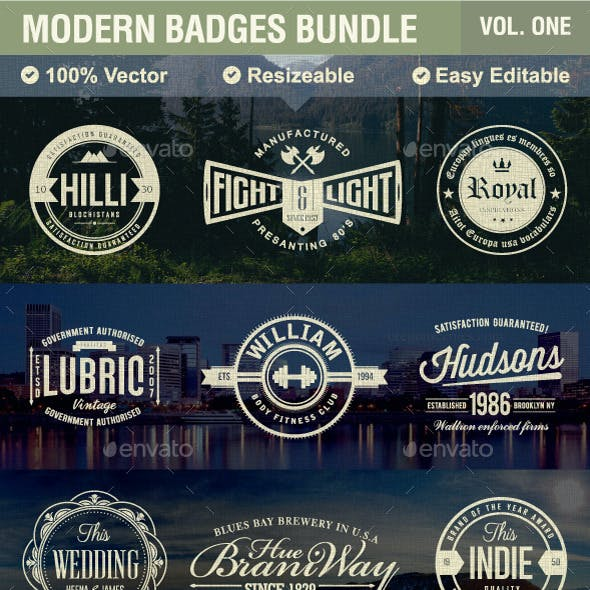 Modern Badges Bundle