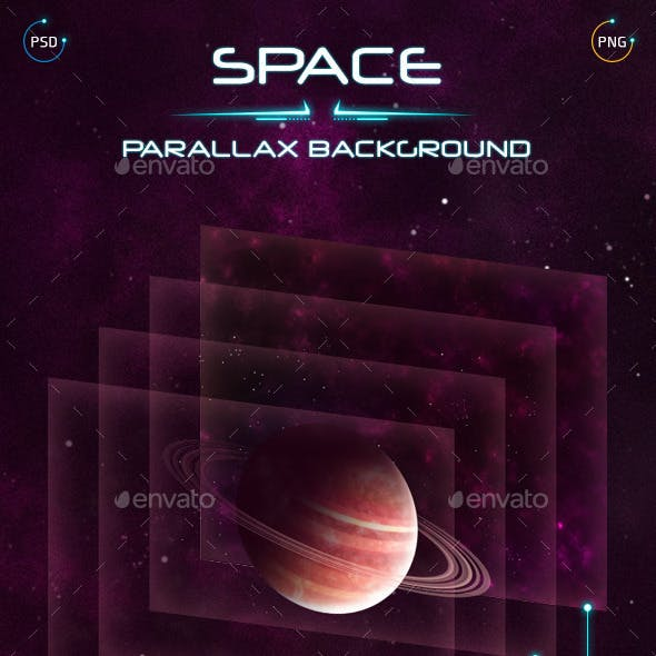 Space Parallax Background