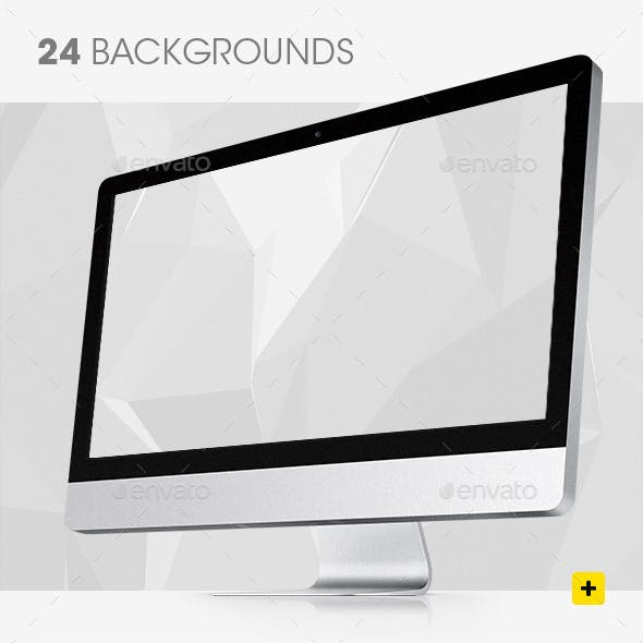 Black and White Geometric Backgrounds
