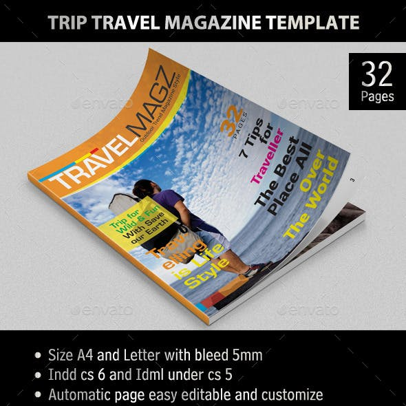 Trip Travel - Magazine Template