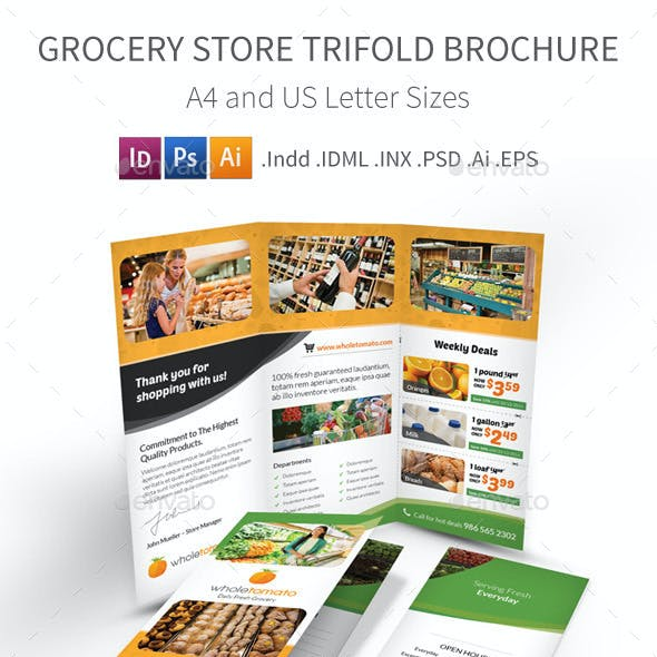 Grocery Store Trifold Brochure