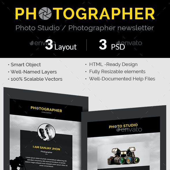 Photographer / Photo Studio e-newsletter PSD Templ