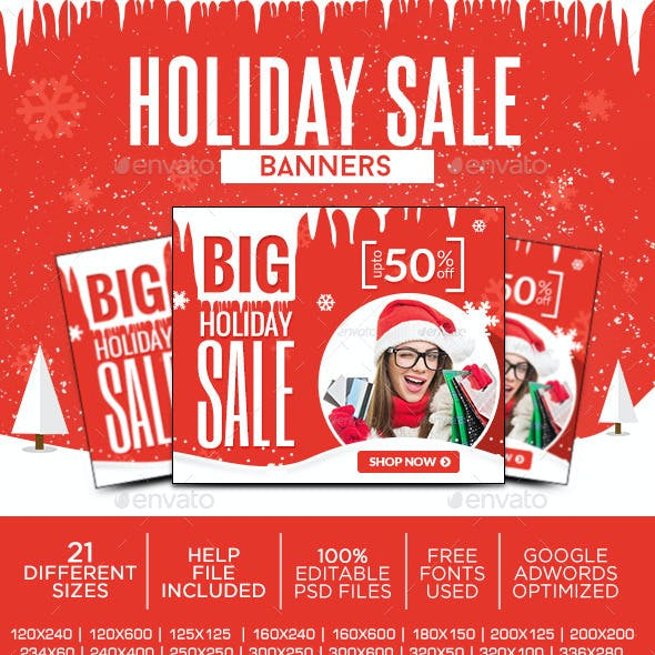 Holiday Sale Banner Set