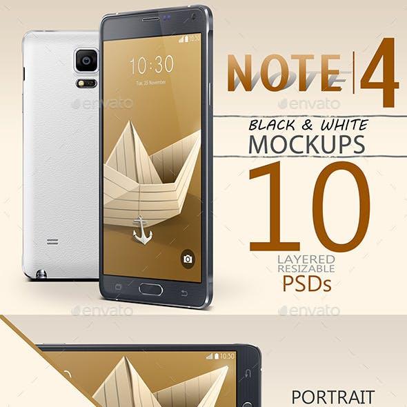 Note 4 Mock-Ups