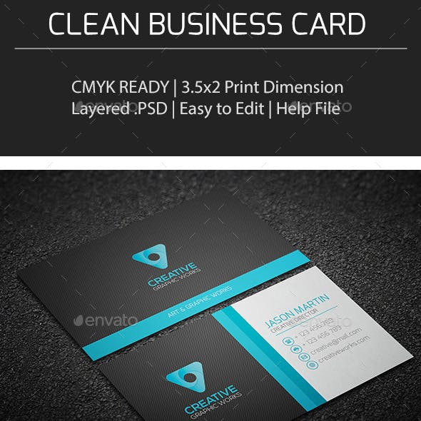 Clean Business Card V0153