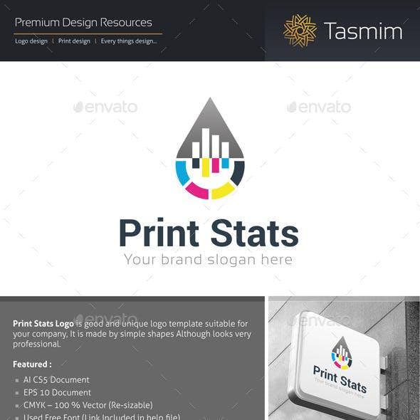 Print Stats Logo Template