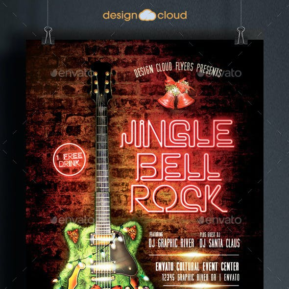 Jingle Bell Rock Christmas Flyer Template