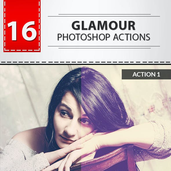 16 Glamour Photoshop Actions