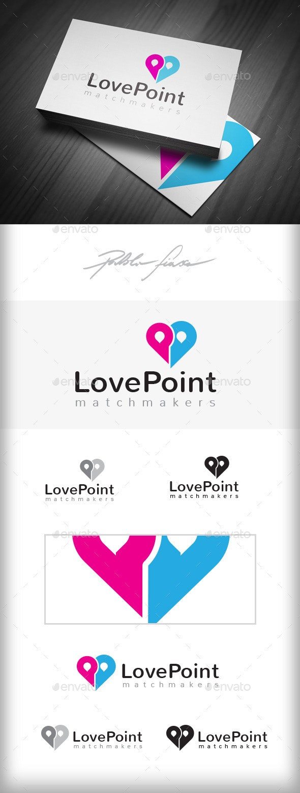 Love Finder - Matchmaker Logo - Dating Locator - Objects Logo Templates