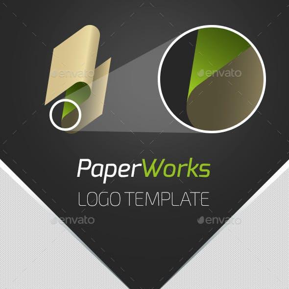 PaperWorks Logo Template