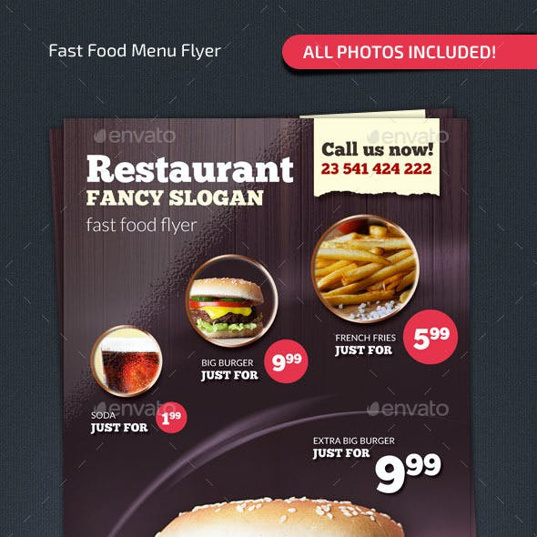 Fast Food Menu Flyer #2