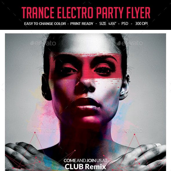 Trance Electro Party Flyer
