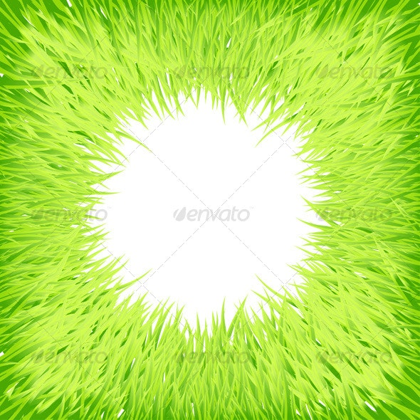 Grass round frame - Backgrounds Decorative