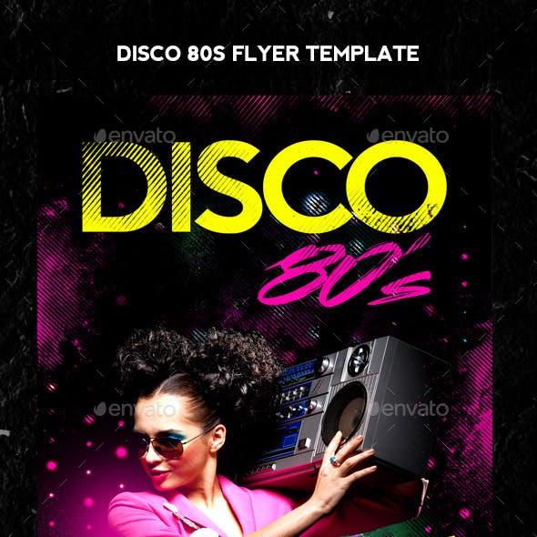 Disco 80s Flyer