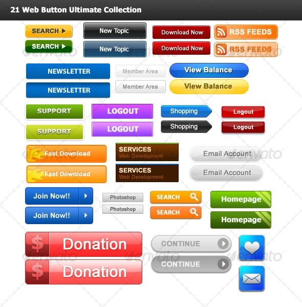 21 Web Button Ultimate Collection