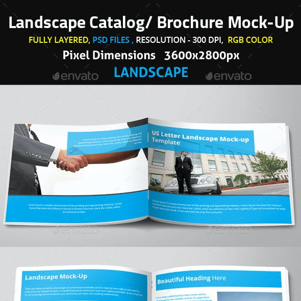 Landscape Catalog/ Brochure Mock-Up