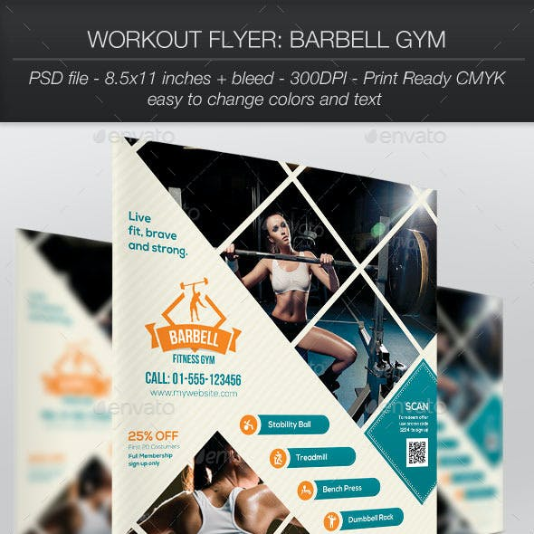 Workout Flyer: Barbell Gym