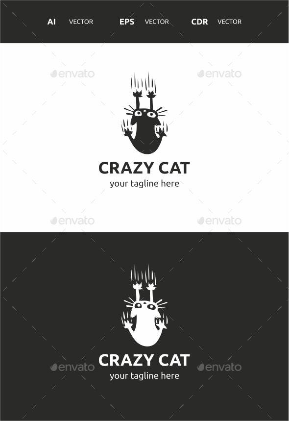 Crazy Cat - Symbols Logo Templates