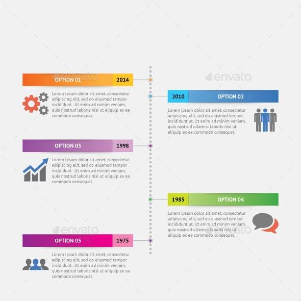 Vertical Dot Timeline Infographic