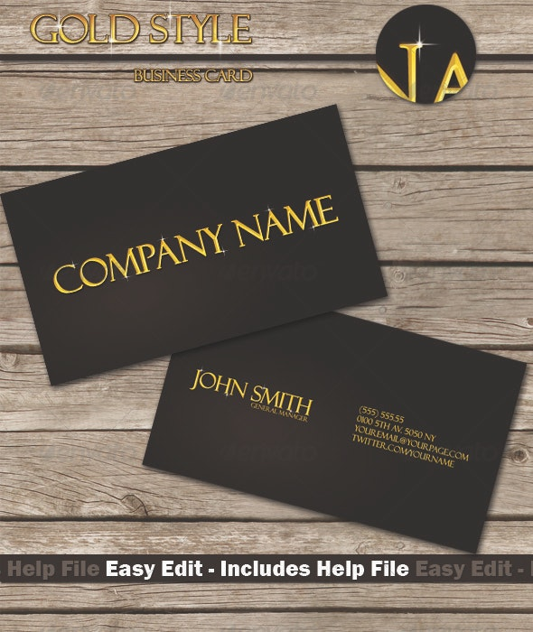 Gold Style Business Card - Creative Business Cards