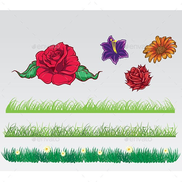 Grass and Flowers Pack