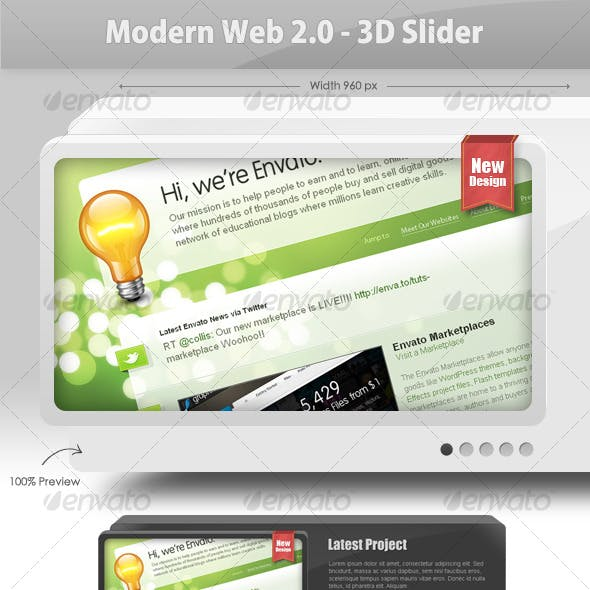 Modern Web 2.0 - 3D Slider