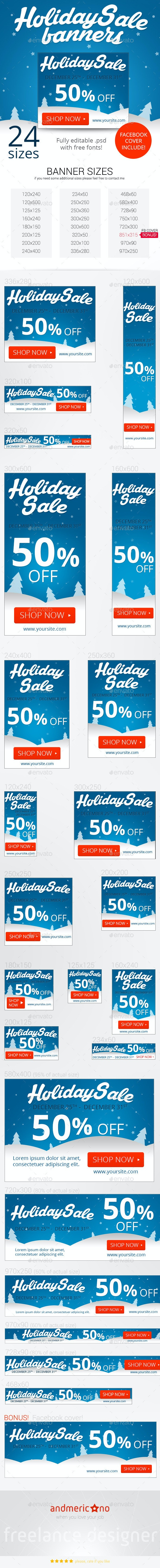 Holiday Sale Banners - Banners & Ads Web Elements