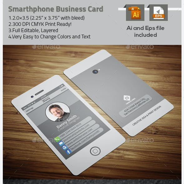 Stylish Smartphone Business Card-2