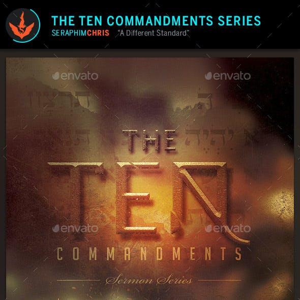 10 Commandments Series: CD Artwork Template