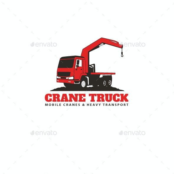 Crane Truck Logo Template