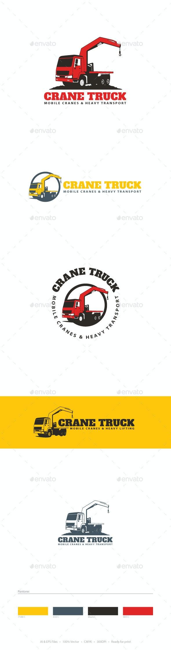Crane Truck Logo Template - Objects Logo Templates