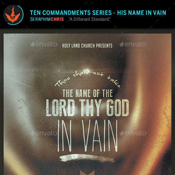 The Lord's Name: CD Artwork Template