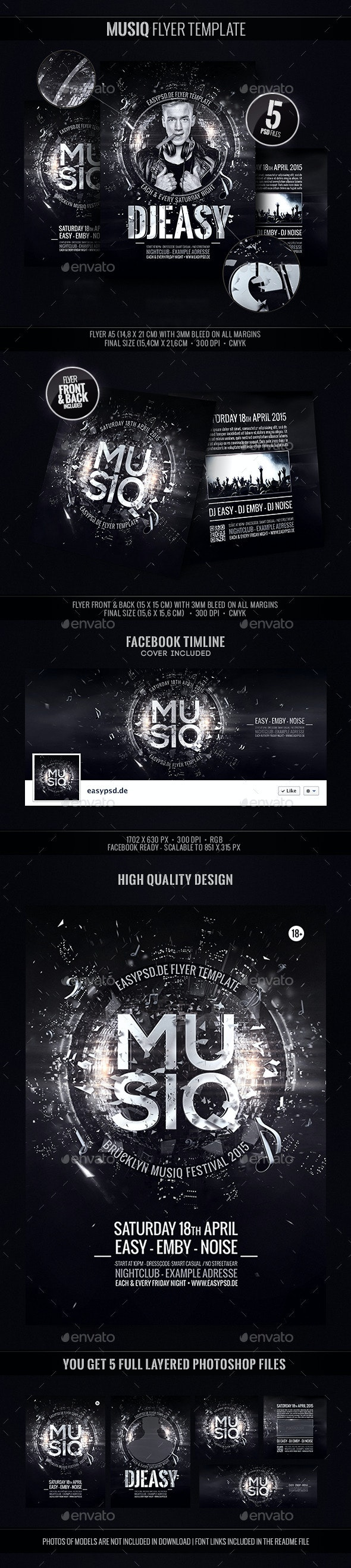 Musiq Festival Template - Clubs & Parties Events