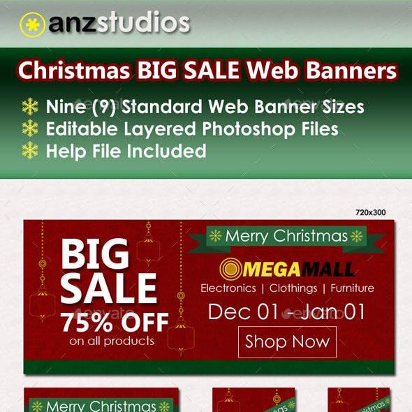 Christmas Big Sale Web Banners