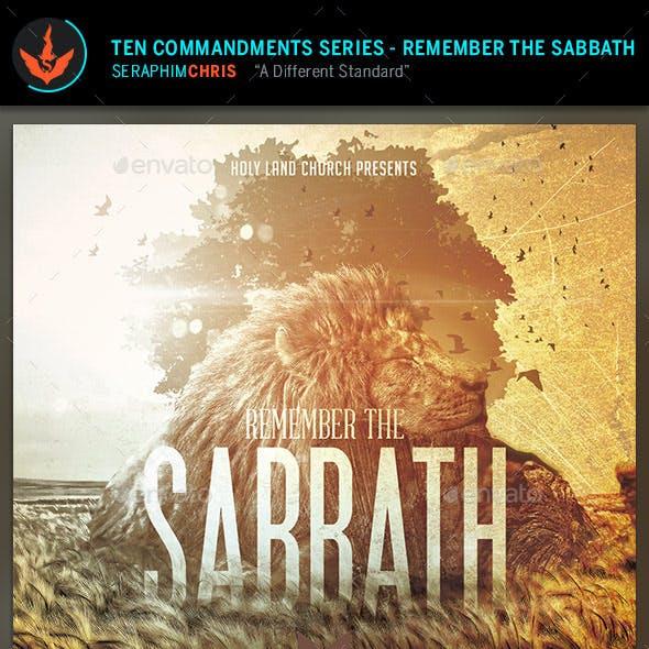 Remember the Sabbath: CD Artwork Template