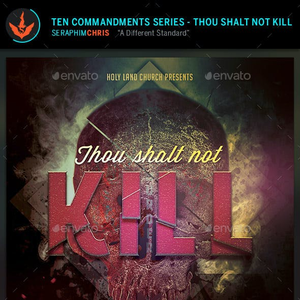 Thou Shalt Not Kill: CD Artwork Template