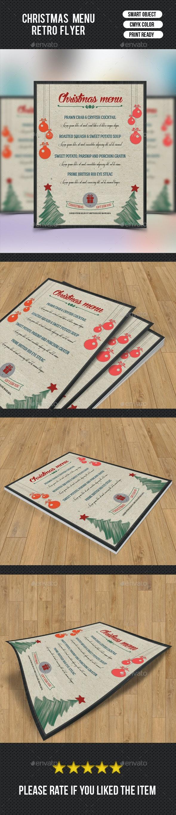 Christmas Food Menu-V01 - Food Menus Print Templates