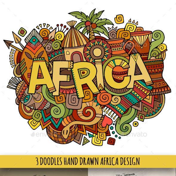 Africa Doodles Designs