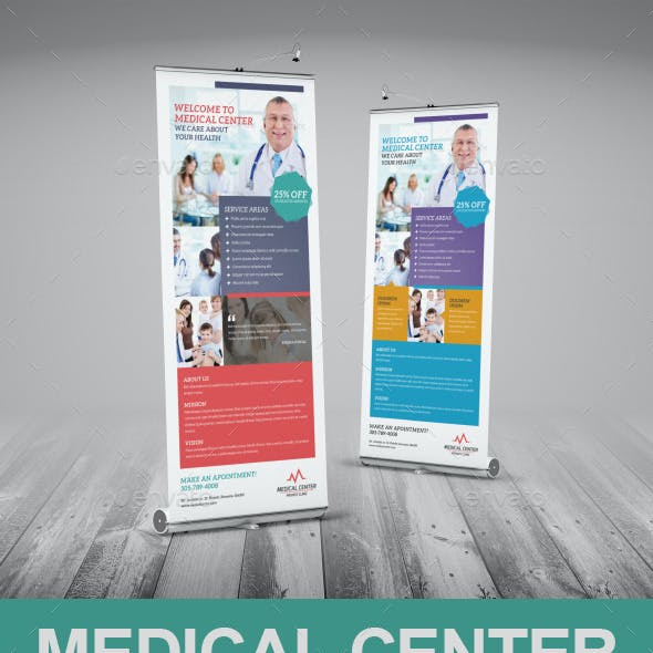 Medical Center Roll-Up Banner