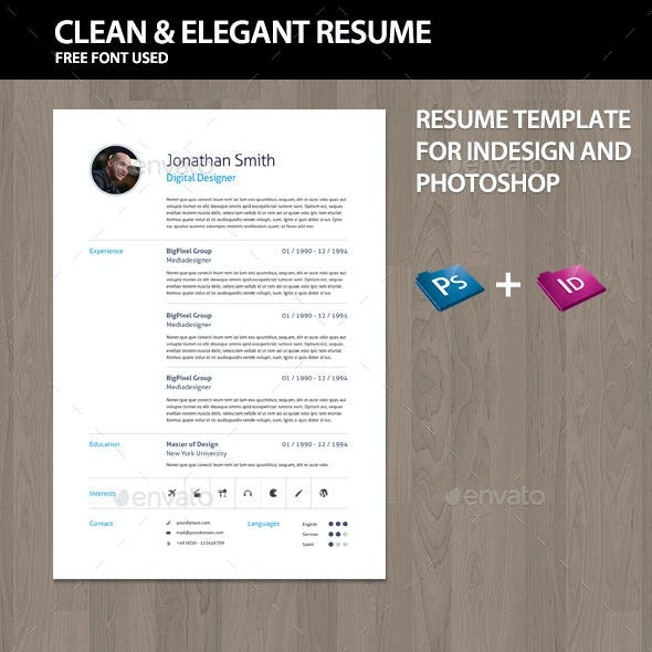 Elegant Curriculum Vitae CV - Resume