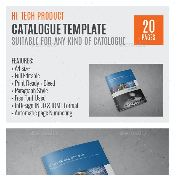 Hi-Tech Products A4 InDesign Catalog Template