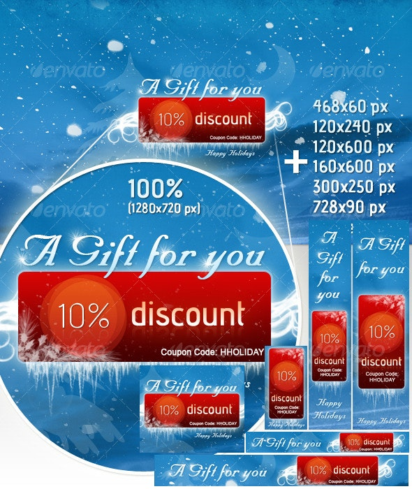 Holiday/Christmas Marketing Banners - Web Elements