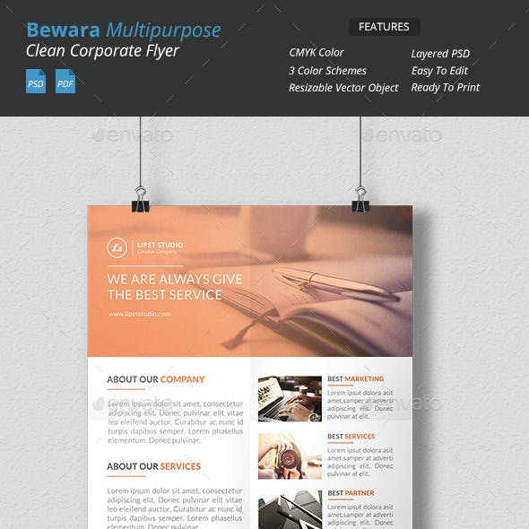 Bewara - Clean Multipurpose Corporate Flyer