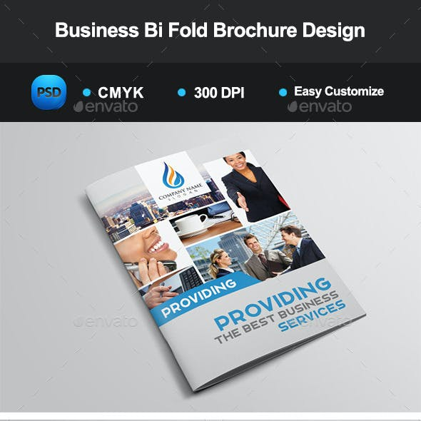 Business Bi Fold Brochure Design