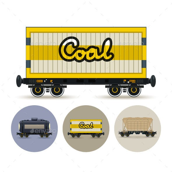 Set of Freight Cars