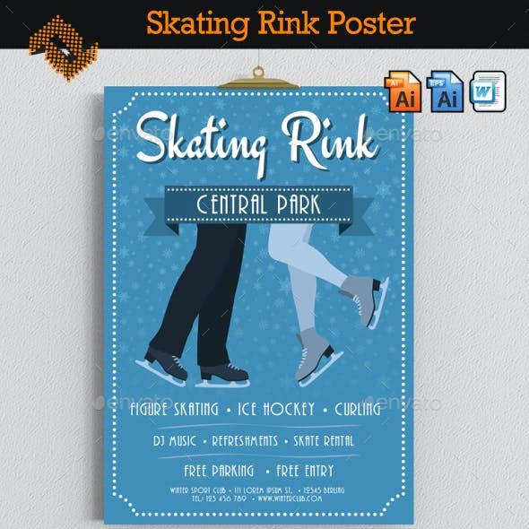 Skating Rink Poster / Flyer