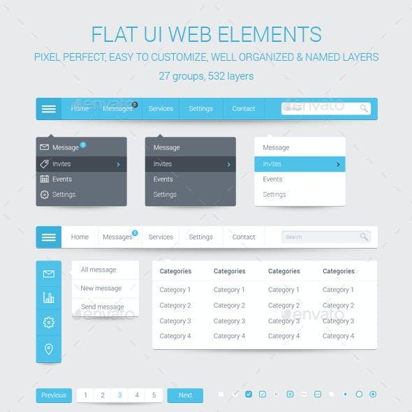Flat UI Web Elements