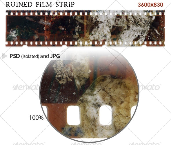 Ruined Film Strip - Miscellaneous Isolated Objects