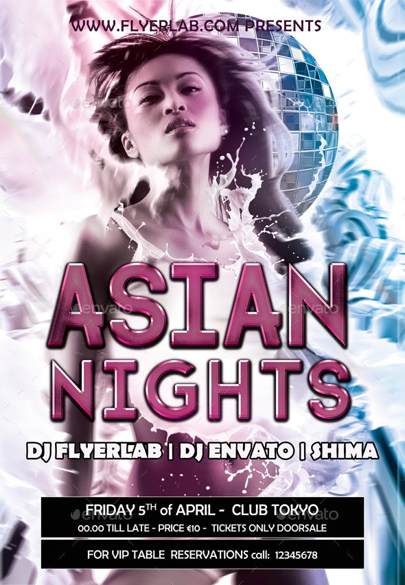 Flyer Asian Avenue - Clubs & Parties Events
